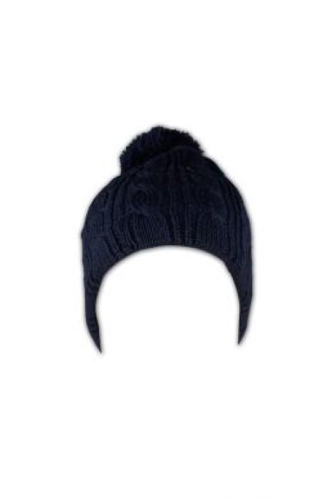 BEANIE019 粗線麻花冷帽 訂做 毛球護耳冷帽 冷帽款式選擇 冷帽專門店