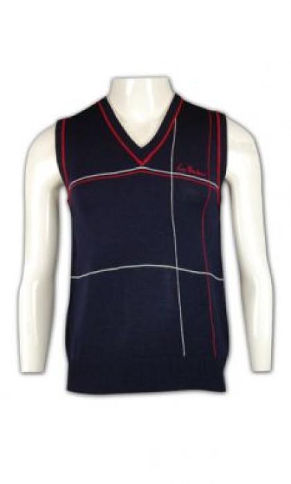 LBX009 來樣訂造制服冷背心 幾何條紋撞色冷背心 冷背心設計 冷背心批發商