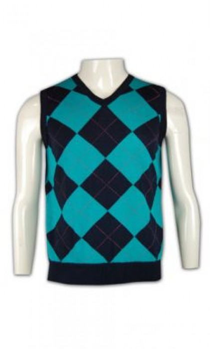LBX010 制服冷背心 來版訂做 格紋提花冷背心 度身訂製冷背心 冷背心生產商