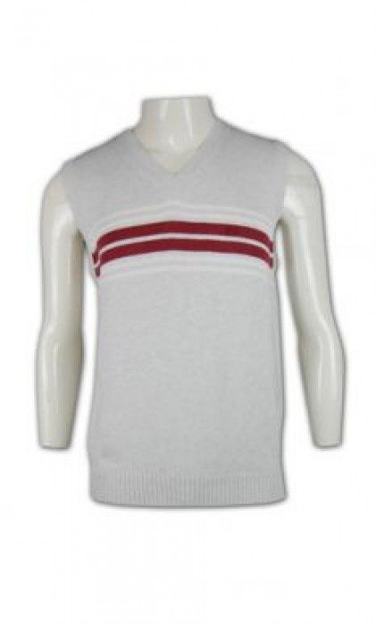 LBX014 大量訂購制服背心 間條撞色冷背心 羊毛冷背心 冷背心香港製造