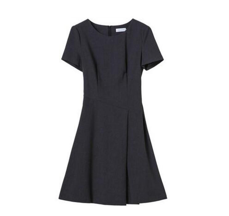 SKPD001 製作OL職業連身裙款式   自製修身職業連身裙款式    設計夏裝短袖職業連身裙款式   職業連身裙中心