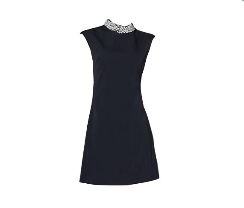 SKPD004 製造修身職業連身裙款式   訂做無袖A字裙連身裙款式   A字裙  設計中長款職業連身裙款式   職業連身裙生產商