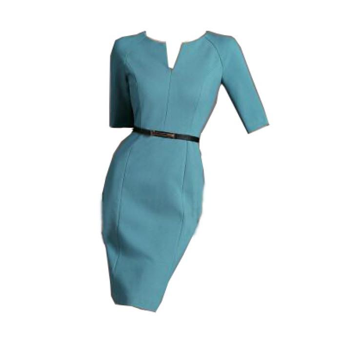 SKPD009 製作白領職業連身裙款式    訂造修身職業連身裙款式   自訂中袖包臀職業連身裙款式   職業連身裙製造商