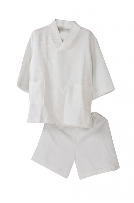 SKBD017  浴袍美容院純棉 華夫格衣服 短褲套裝 浴袍  浴袍套裝   酒店浴袍  酒店布草