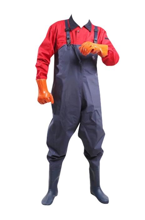 SKWK024 半身下水褲捕魚褲 防水加厚抓魚工作服 洗車涉水褲 男挖藕插秧褲