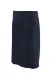 AP005-1 純色半身圍裙訂做 批發半身圍裙