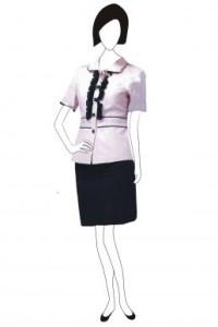 BS047 自訂職業套裝 花邊恤衫套裙搭配 恤衫套裝度身訂製 西服套裝廠家