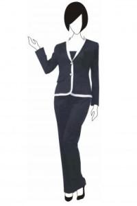 BS081 女裝收腰西服 訂做 撞邊拼接外套設計  西裝外套度身訂造 西裝廠家