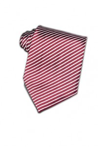 TI051 斜紋撞色領帶訂造 紅白間紋領帶 領帶顏色 領帶設計 領帶廠家