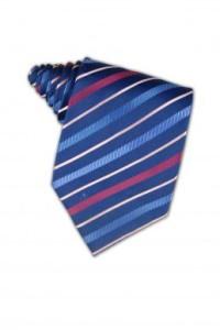 TI073 striped ties linen ties blue ties