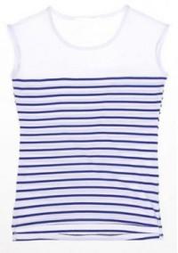 FA131  橫間無袖t恤 訂做 女裝收腰T恤 度身訂造間條班t恤  班T公司