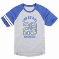 FA178 斜肩班T 訂造 撞色印花T恤 休閒風格T T恤專門店