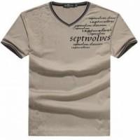 FA229 V領印T 訂購 織帶包邊T恤 度身訂造T恤 T恤香港公司