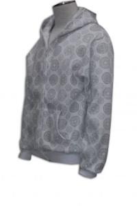 FA001 拉鏈衛衣外套訂做  熱升華印製衛衣 衛衣外套DIY 衛衣廠家