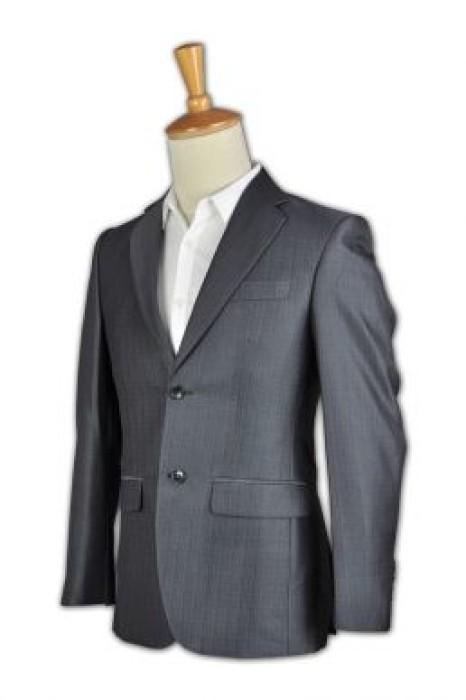 BS332  男士職業西服 修身緞面西裝 來版訂購西裝套裝 西裝專門店