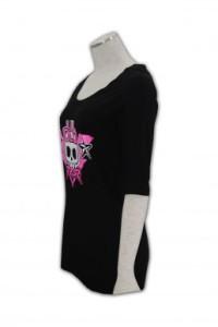 T165 訂製圓領t恤 t恤印花  訂造團體衫公司