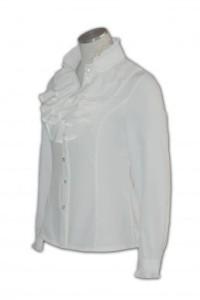 R110 訂製女西裝恤衫 自製女西裝襯衫設計  襯衫搭配  襯衫批發價