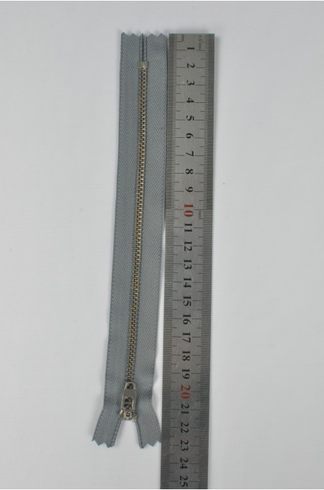 ZIP055  3號拉鏈  灰瀝牙金屬拉鏈  密尾拉鏈  單頭拉鏈  不設單獨拉鍊訂購