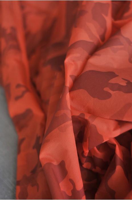 SD-TB  感溫變色面料-31℃溫變 100%尼龍  69g/m 半透明輕薄皮膚風衣布料 迷彩橙