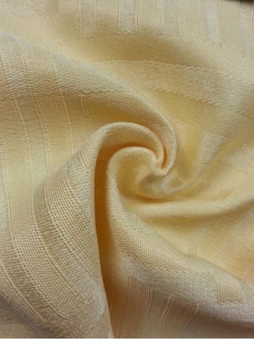 TB-FDN  提花桌布  枱布 100%滌  橫豎條紋-米黃 橫間紋