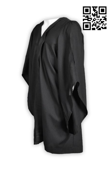 CHR006製造純黑聖詩袍 製作聖詩袍 網上下單聖詩袍 牧師袍 聖詩袍制服公司