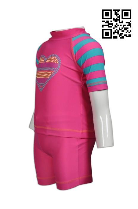 TF035 訂購小童泳衣  製造印花褲裝泳衣套裝  設計游泳專用泳衣 泳衣制服店