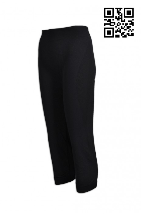 TF039 訂製後腿處反光運動褲  製造緊身運動9分褲  束腳 供應吸濕排汗運動褲  運動褲製造商