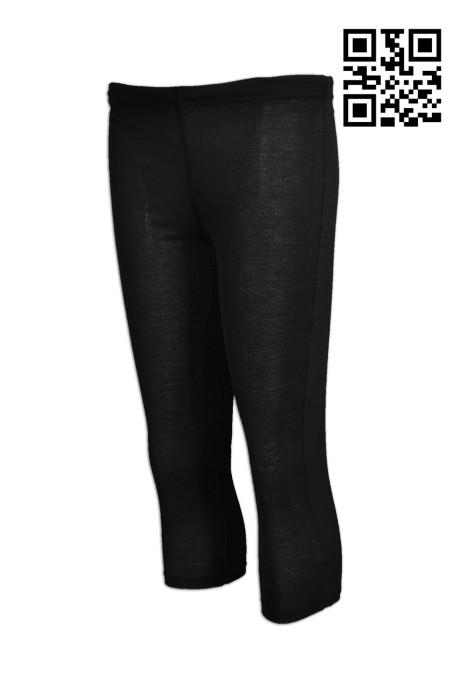 TF040 製作七分運動褲  設計超薄運動  黑色花紗  訂購緊身運動褲 運動褲制服店 運動褲香港