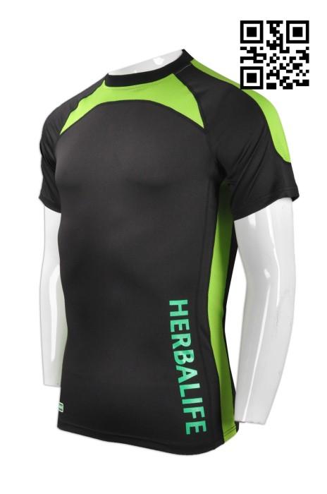 TF045 訂造緊身運動衫 網上下單排汗運動衫 貼身男裝撞色 度身訂造運動衫 運動衫專門店