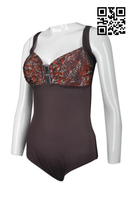 TF052  製作連體泳衣  設計女款時尚泳衣  印花 胸閘 訂造無袖女裝泳衣 泳衣專門店