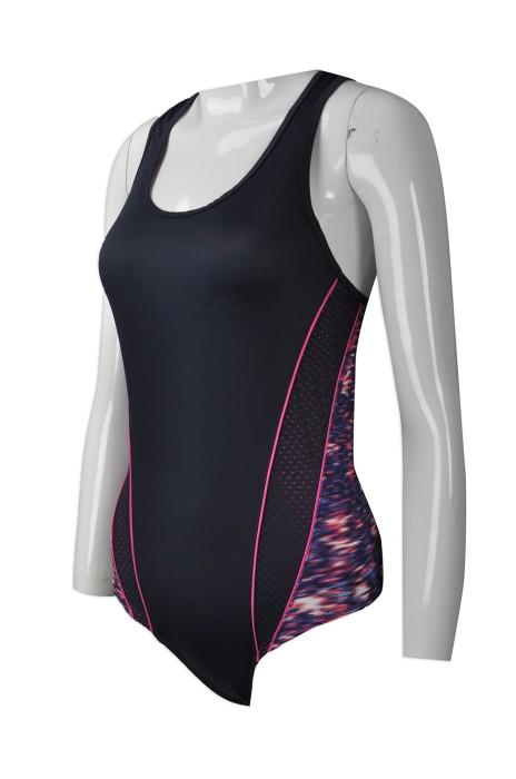 TF060  製造度身泳衣款式   自訂女裝連身泳衣款式    連身泳衣  設計拼接泳衣款式    泳衣生產商