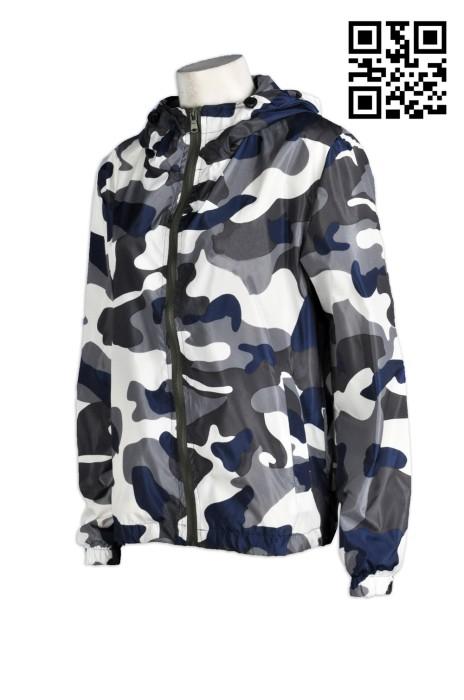 J464 訂製迷彩服防曬外套  男女潮棒球服   休閒運動風衣 訂造夾克薄風衣外套  風褸外套批發