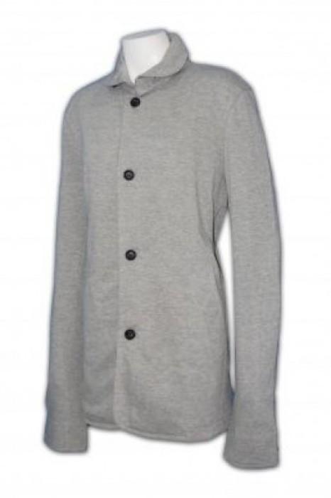 FA004 女裝長款外套訂做 純色棉外套 修身長外套 長款外套批發商