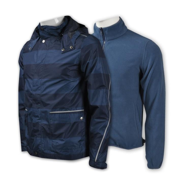 J442 男裝連帽行山風褸外套 訂做 潮版五角星印花風褸 風褸外套配搭 風褸外套生產商