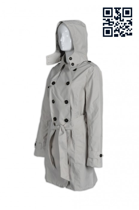 J560訂製長款束腰女款風褸  乾濕褸 漁夫褸 腰帶 雙襟孖襟 英式大褸 自訂修身女裝風衣 長風衣 英文 網上下單風衣 風衣供應商