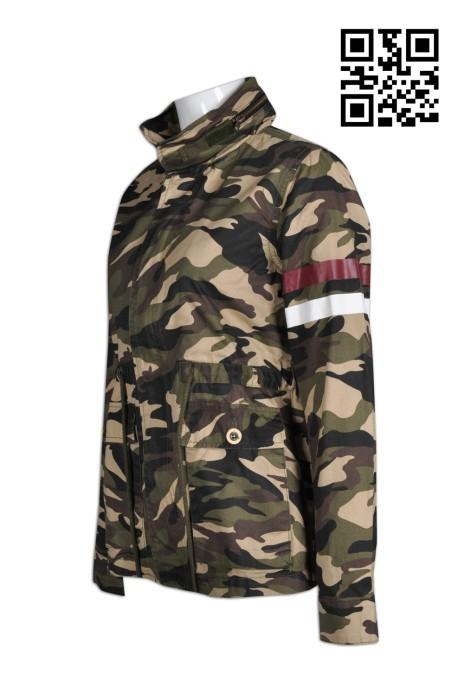 J601訂購迷彩外套  網上下單個性外套  設計時尚迷彩外套 外套供應商