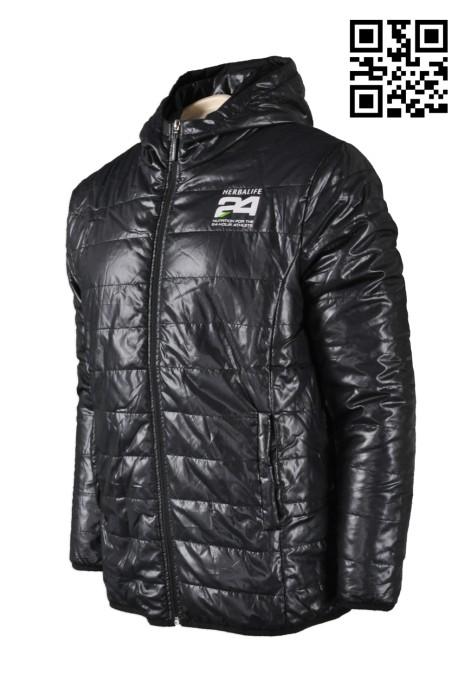 J469 男裝連帽夾棉外套 度身訂製 保暖風褸外套 修身夾棉外套 風褸外套香港製造