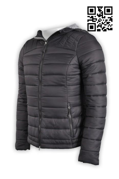 J532訂製連帽羽絨外套 訂印純色羽絨外套 製造時尚外套 外套專門店