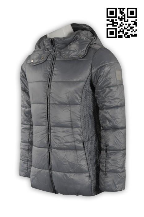 J533設計加厚羽絨外套 訂製時尚夾棉外套 兩頭拉鍊 訂購修身外套 外套供應商
