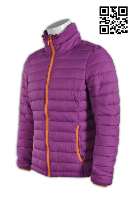 J534供應保暖羽絨外套 設計時尚夾棉外套 訂購加厚外套 女裝修腰款 夾棉外套專門店