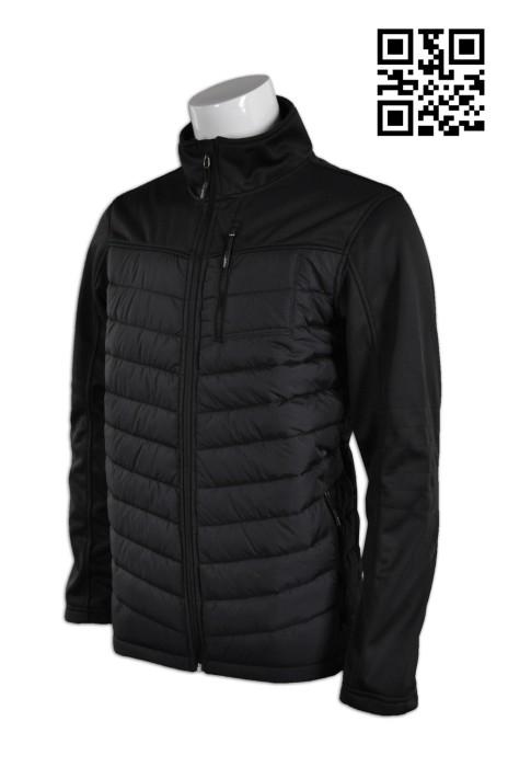 J535自定個性羽絨外套 訂購黑色純色外套 製作修身夾棉外套 夾棉外套制服店