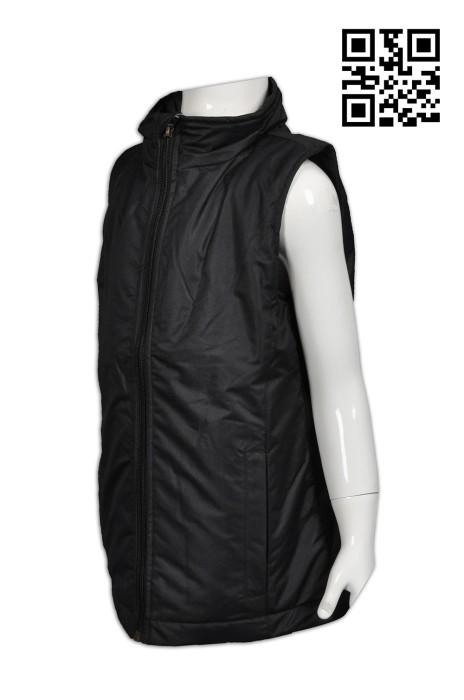J610供應夾棉背心外套  設計加厚保暖背心外套 加長款背心外套 網上下單兒童背心外套  背心夾棉外套中心
