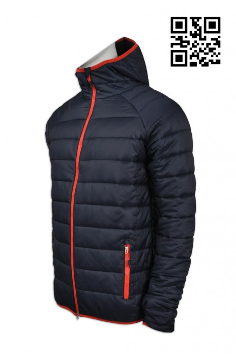 J626 製作保暖羽絨外套 訂造加厚羽絨外套 螢光橙 反光工業外套 網上下單羽絨外套 羽絨外套製造商