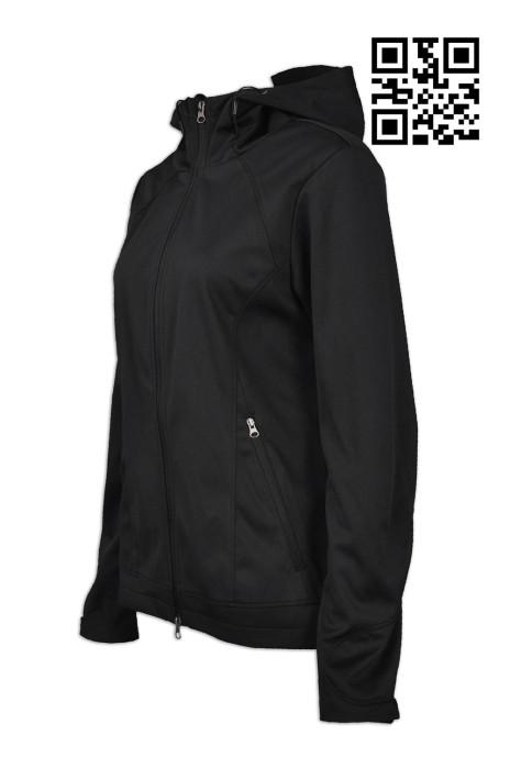 J628 訂做度身風䄛外套款式    製作女士風樓外套款式  修身外套 複合布款 吸排底布 雙頭拉鍊  自訂風樓外套款式   風樓生產商
