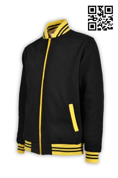 Z240設計衛衣外套 製造個性棒球褸 綿褸 供應棒球褸 棒球褸製造商