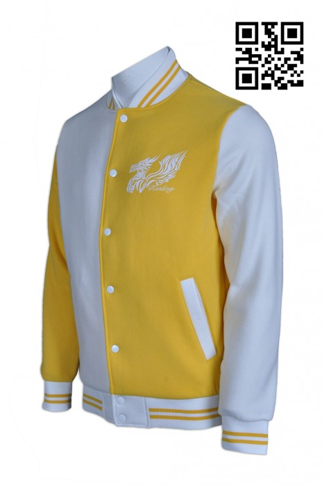Z271自訂度身棒球䄛  訂做拼色棒球樓 衫身左右撞色 綿褸 製造棒球樓  棒球樓製衣廠