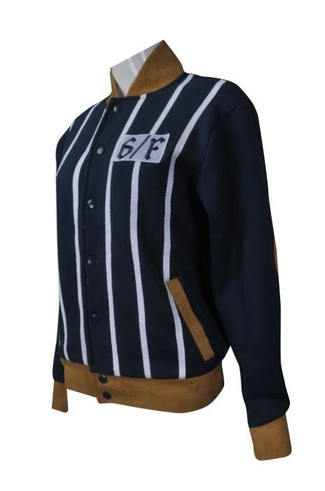 Z267 大量訂造直袖棒球褸  供應條紋棒球外套   來樣訂造棒球褸  棒球褸製衣廠