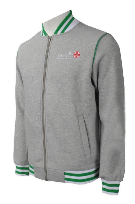 Z334  製作度身棒球服款式   自訂繡花LOGO棒球服款式   藥房外套 制服  設計男裝棒球服款式    棒球服製造商