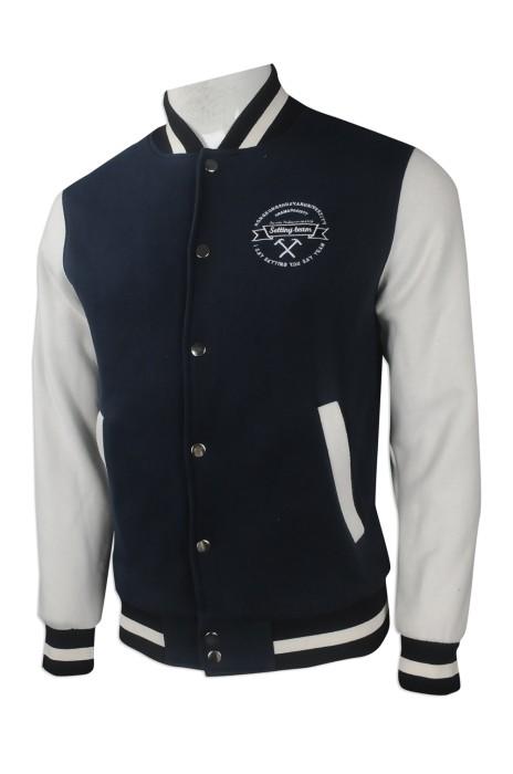 Z398 來樣訂做棒球外套 網上下單棒球外套款式 SOC會 學會班褸 訂造棒球外套供應商
