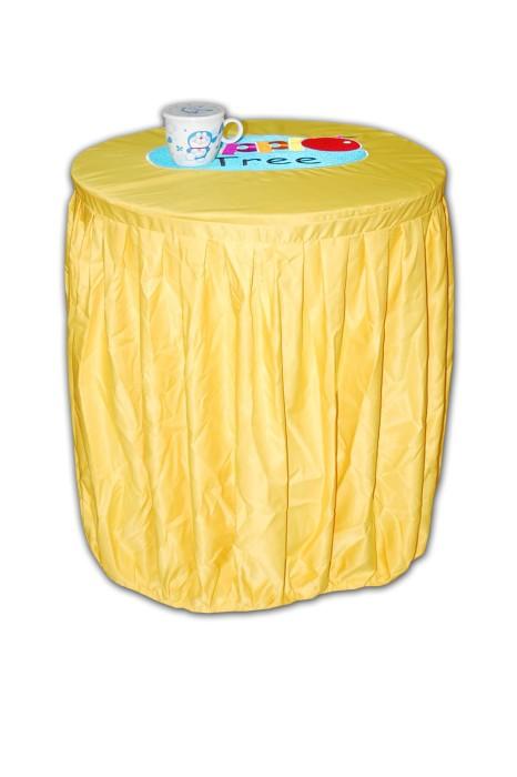 TBC014 餐台布訂做 餐台布在線訂購 大圓枱 檯套 枱套  枱裙套 枱防塵罩 圓枱布 自訂酒店餐台布專門店